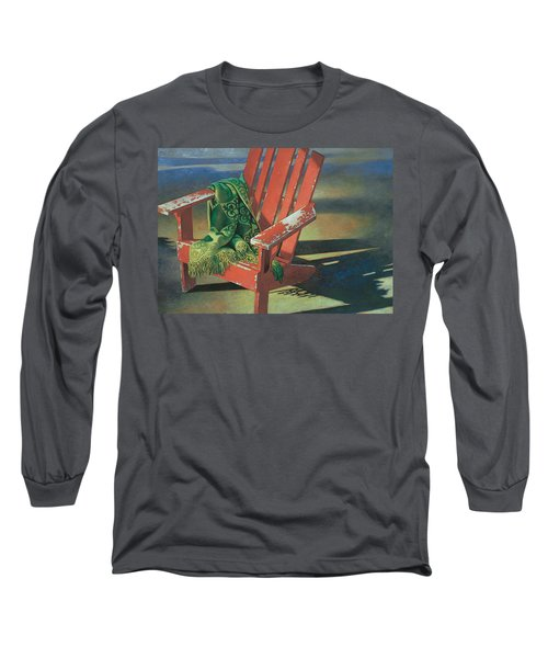 Red Adirondack Chair Long Sleeve T-Shirt