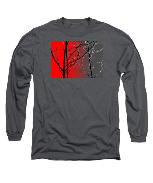 Red And Gray Long Sleeve T-Shirt by Cynthia Guinn