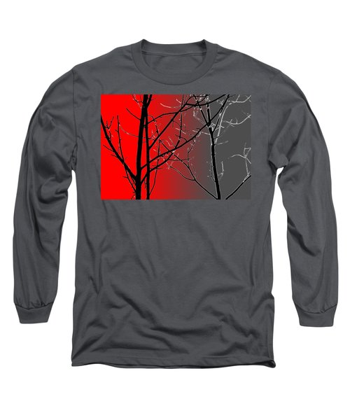 Red And Gray Long Sleeve T-Shirt