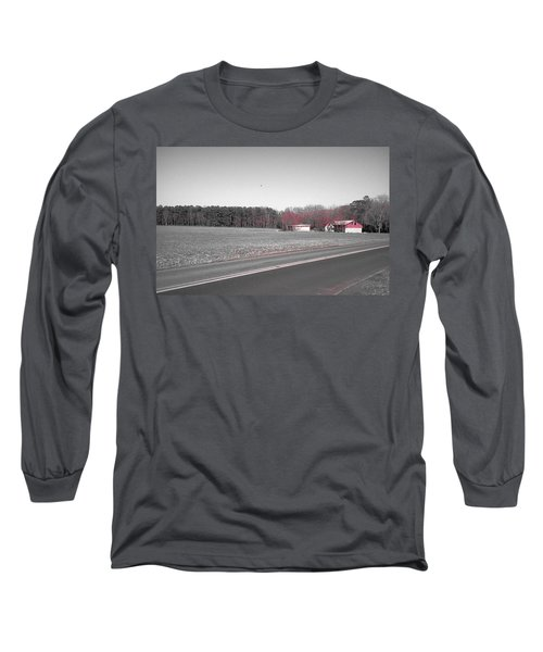 Long Sleeve T-Shirt featuring the photograph Red Barn  by Amazing Photographs AKA Christian Wilson