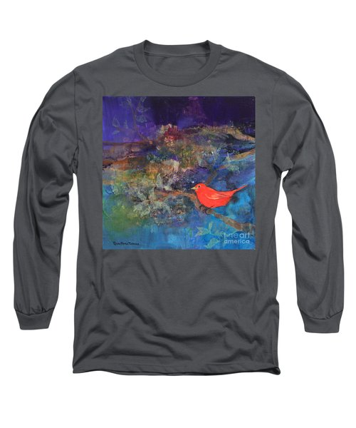 Red Bird Long Sleeve T-Shirt by Robin Maria Pedrero