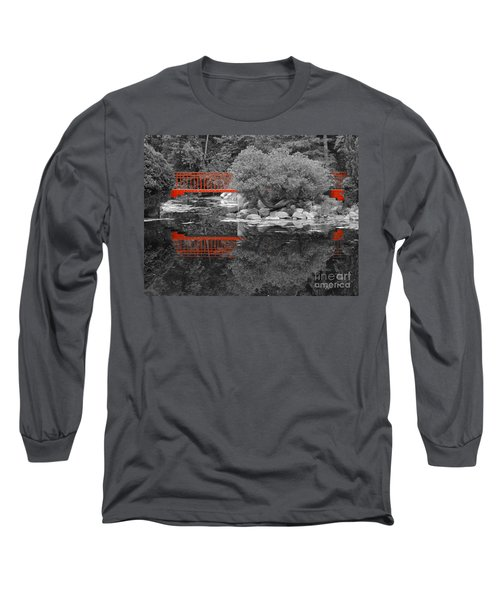 Red Bridge Black And White Long Sleeve T-Shirt