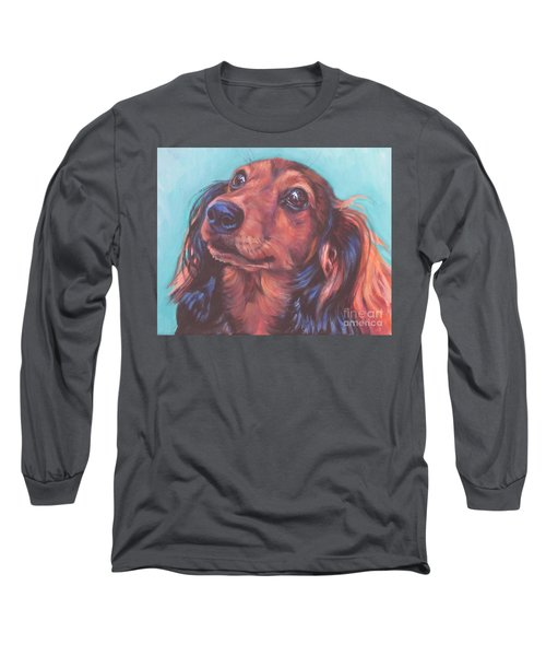 Red Doxie Long Sleeve T-Shirt by Lee Ann Shepard