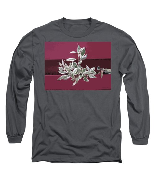 Long Sleeve T-Shirt featuring the photograph Red Fence by Donald S Hall