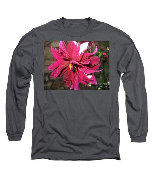 Red Flower In Bloom Long Sleeve T-Shirt by HEVi FineArt
