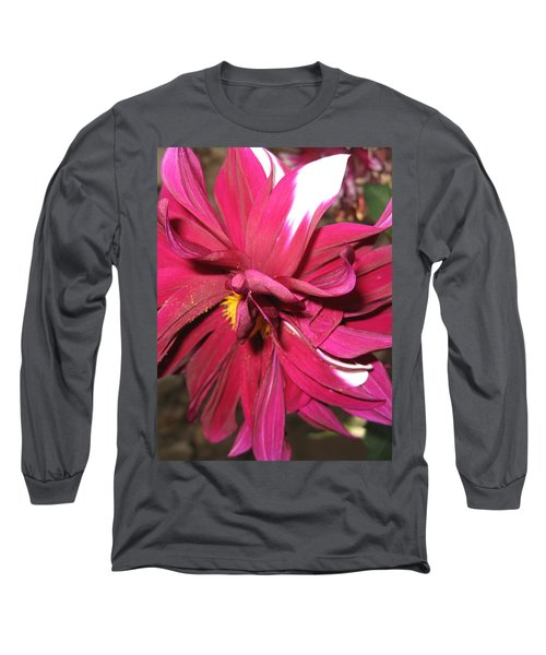Red Flower In Bloom Long Sleeve T-Shirt
