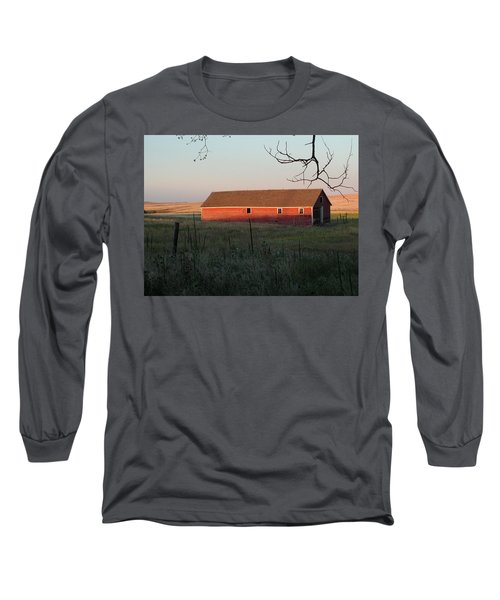 Red Granary Barn Long Sleeve T-Shirt