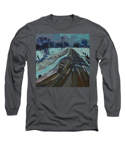 Red Horse Road Long Sleeve T-Shirt by Phil Chadwick