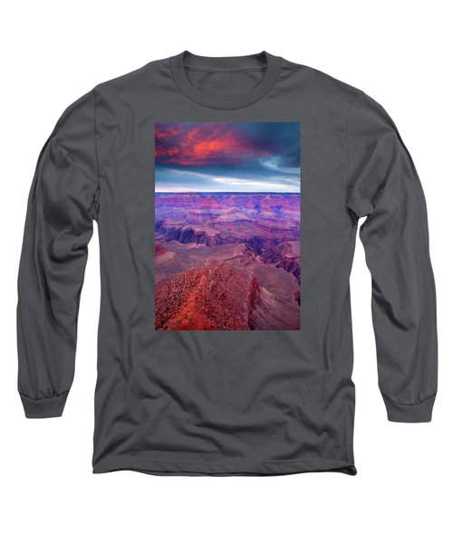 Red Rock Dusk Long Sleeve T-Shirt by Mike  Dawson