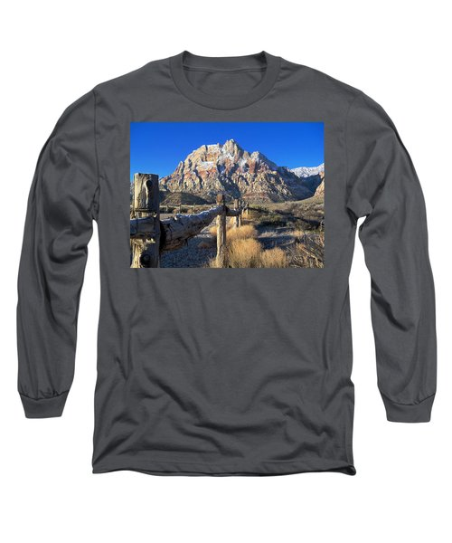Long Sleeve T-Shirt featuring the photograph Red Rock Snow by Alan Socolik