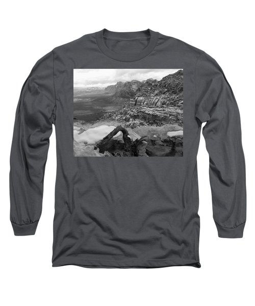 Long Sleeve T-Shirt featuring the photograph Red Rock Winter by Alan Socolik