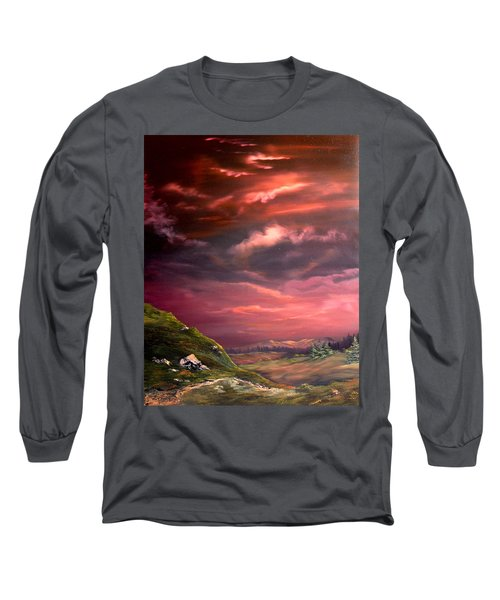 Red Sky At Night Long Sleeve T-Shirt by Jean Walker