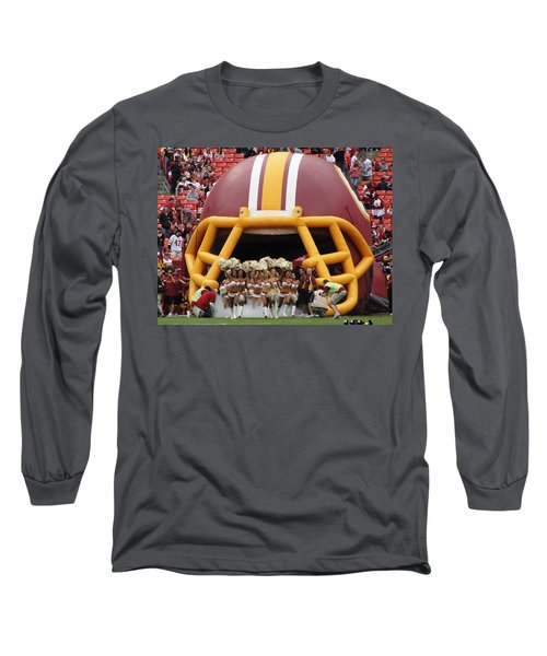 Redskins Cheerleaders Long Sleeve T-Shirt