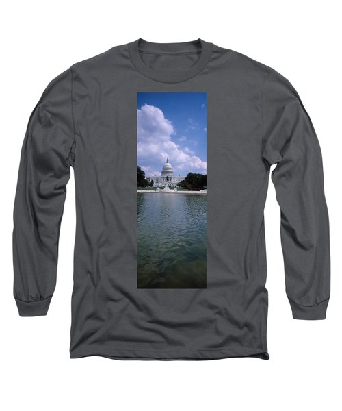 Reflecting Pool With A Government Long Sleeve T-Shirt by Panoramic Images