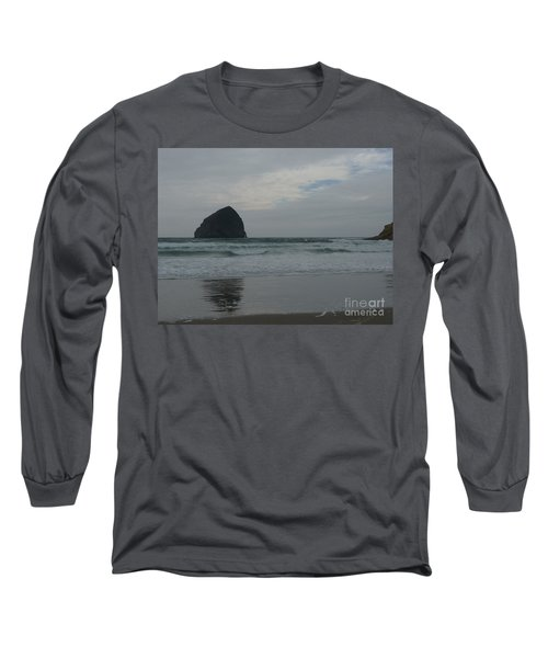 Long Sleeve T-Shirt featuring the photograph Reflection Of Haystock Rock  by Susan Garren