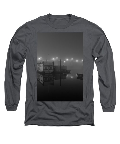 Reflection On Misty Thames  Long Sleeve T-Shirt