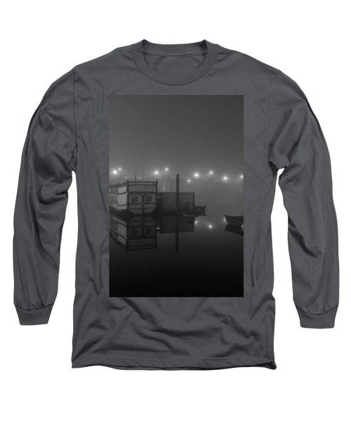 Reflection On Misty Thames  Long Sleeve T-Shirt by Maj Seda