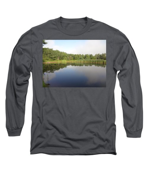 Long Sleeve T-Shirt featuring the photograph Reflections Of A Still Pond by Michael Porchik