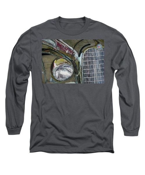 Long Sleeve T-Shirt featuring the painting Reflections On 1931 Alfa Romeo Milano by Anna Ruzsan