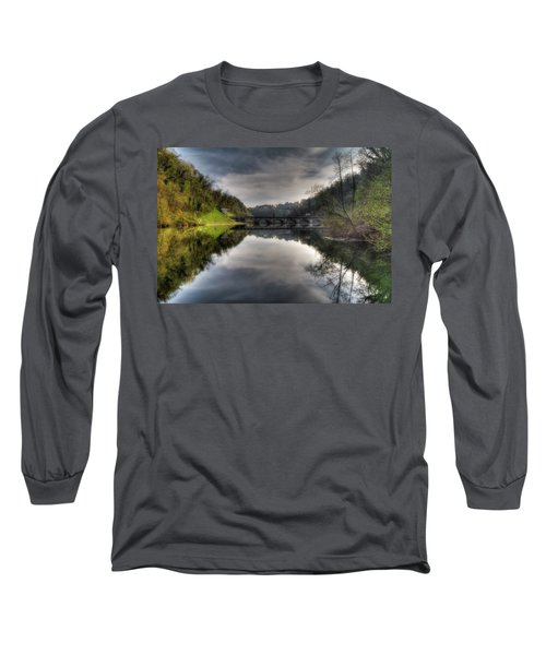 Reflections On Adda River Long Sleeve T-Shirt