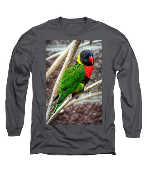 Long Sleeve T-Shirt featuring the photograph Resting Lory by Sennie Pierson