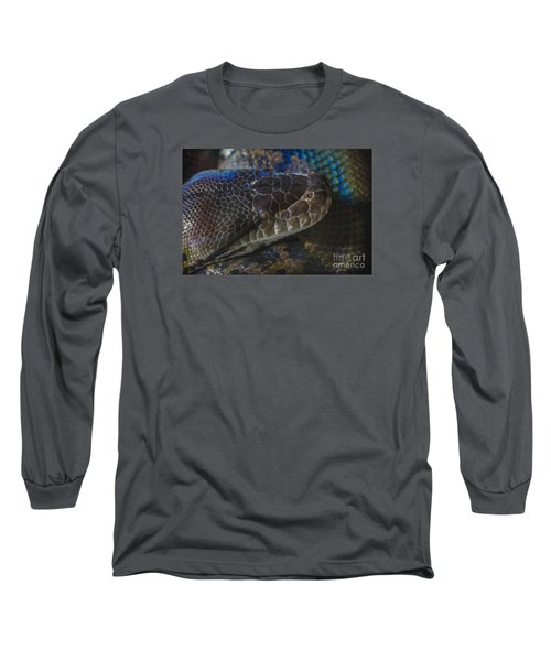 Reticulated Python With Rainbow Scales Long Sleeve T-Shirt