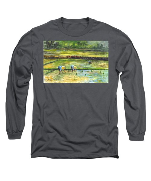 The Rice Paddy Field Long Sleeve T-Shirt