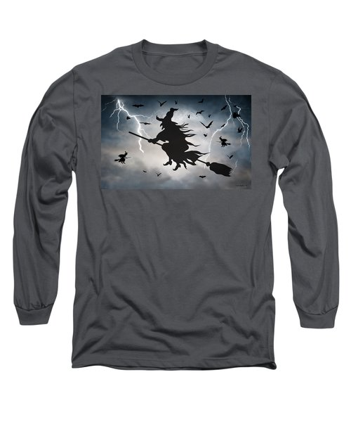 Ride Like Lighting Long Sleeve T-Shirt by Brian Wallace
