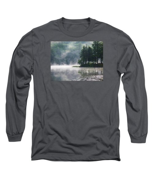 Long Sleeve T-Shirt featuring the photograph Ridge Road Morning Mist by Joy Nichols
