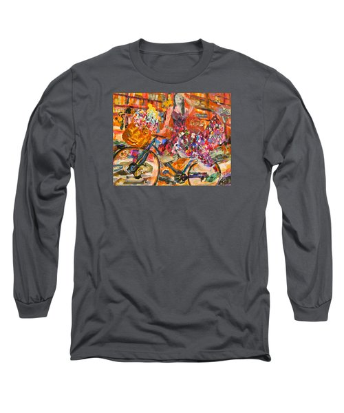 Riding Through Life Long Sleeve T-Shirt by Michael Cinnamond