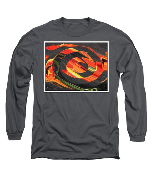 Long Sleeve T-Shirt featuring the digital art Ring Of Fire by Mariarosa Rockefeller