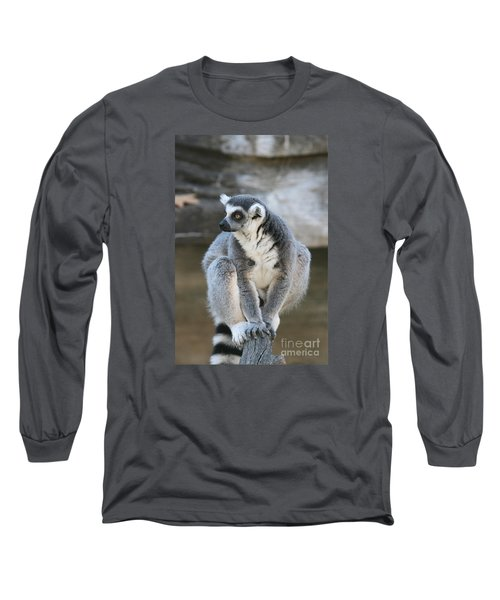 Long Sleeve T-Shirt featuring the photograph Ring-tailed Lemur #3 by Judy Whitton