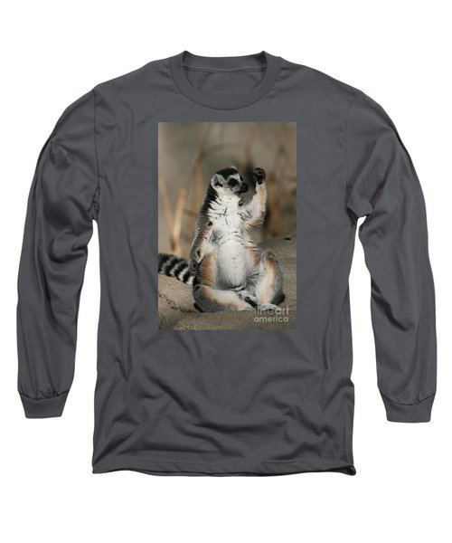 Long Sleeve T-Shirt featuring the photograph Ring-tailed Lemur by Judy Whitton