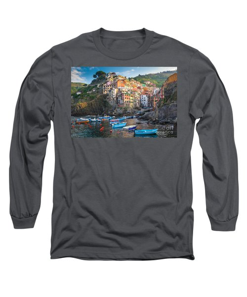 Riomaggiore Boats Long Sleeve T-Shirt