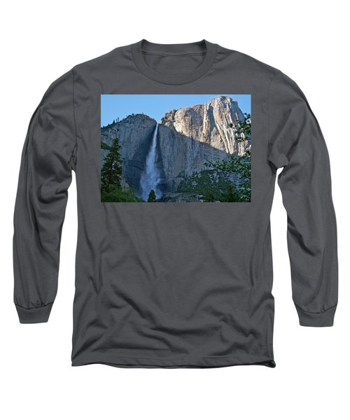 Rising Sun At Upper Yosemite Falls Long Sleeve T-Shirt