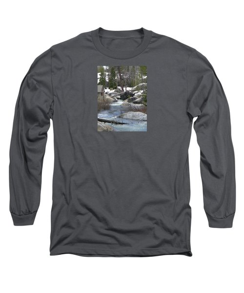 Long Sleeve T-Shirt featuring the photograph River Cabin by Bobbee Rickard