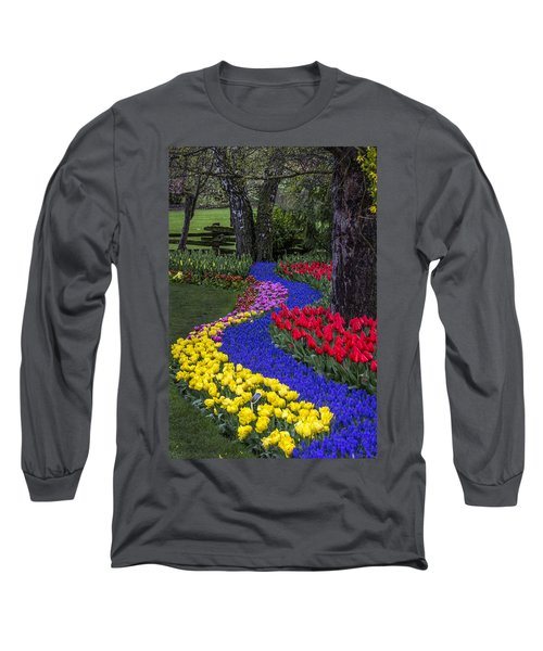 River Of Blue Long Sleeve T-Shirt by Sonya Lang