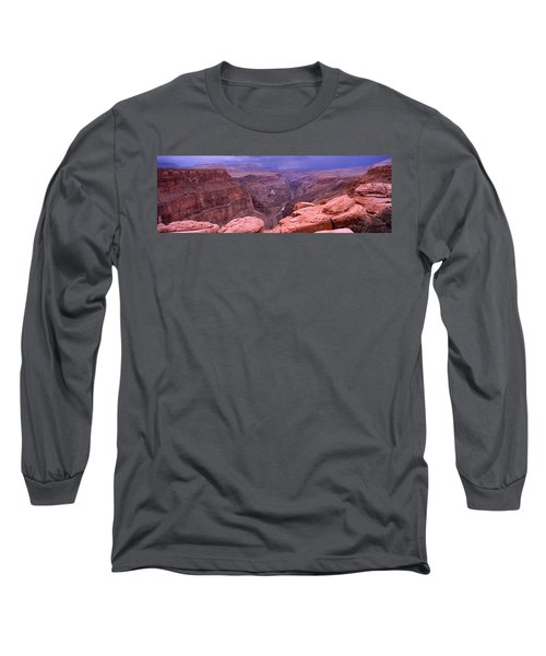 River Passing Through A Canyon Long Sleeve T-Shirt