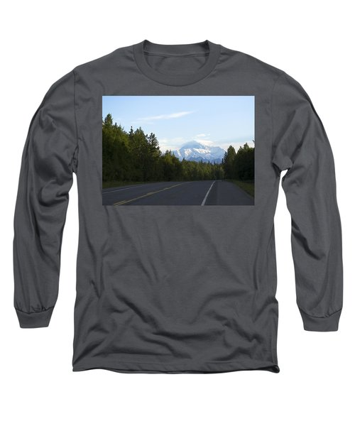 Road To Denali  Long Sleeve T-Shirt by Tara Lynn