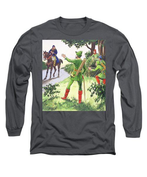 Robin Hood, From Peeps Into The Past Long Sleeve T-Shirt
