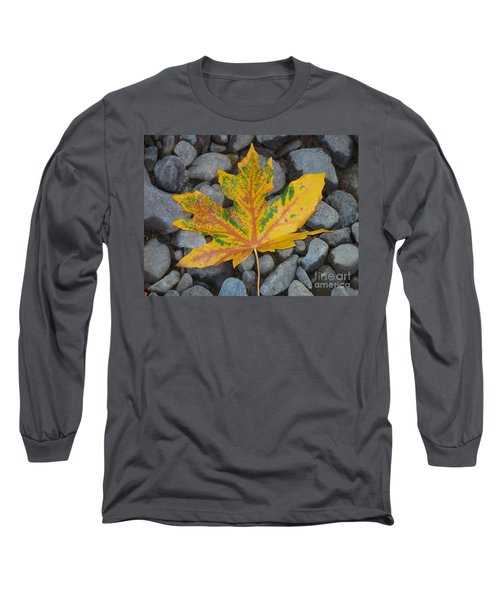 Long Sleeve T-Shirt featuring the photograph Rock Creek Leaf by Chalet Roome-Rigdon