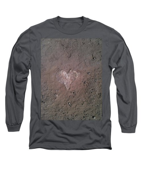 Rock Heart Long Sleeve T-Shirt by Claudia Goodell