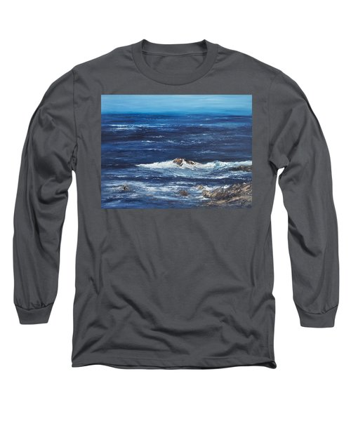 Rocky Shore Long Sleeve T-Shirt by Valerie Travers