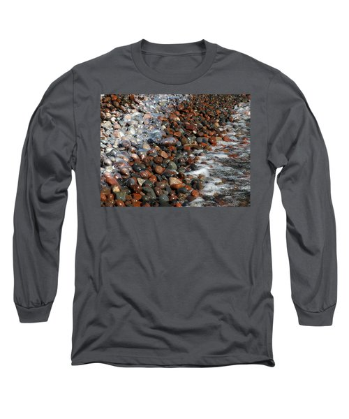 Rocky Shoreline Abstract Long Sleeve T-Shirt