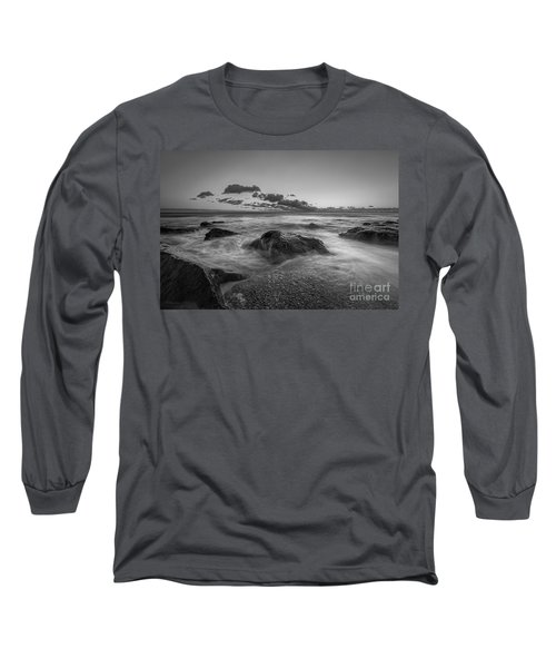 Rocky Sunrise Bw Long Sleeve T-Shirt