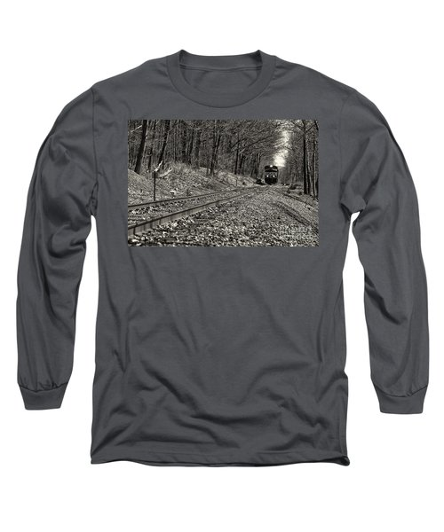 Rolling Down The Tracks Long Sleeve T-Shirt