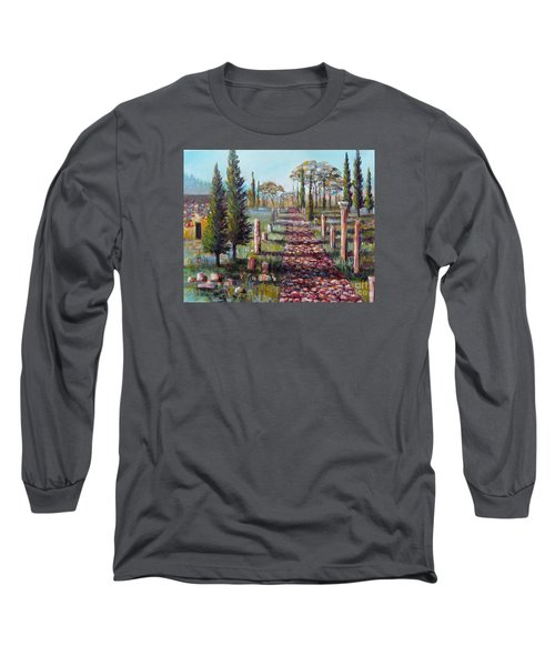 Long Sleeve T-Shirt featuring the painting Roman Road by Lou Ann Bagnall