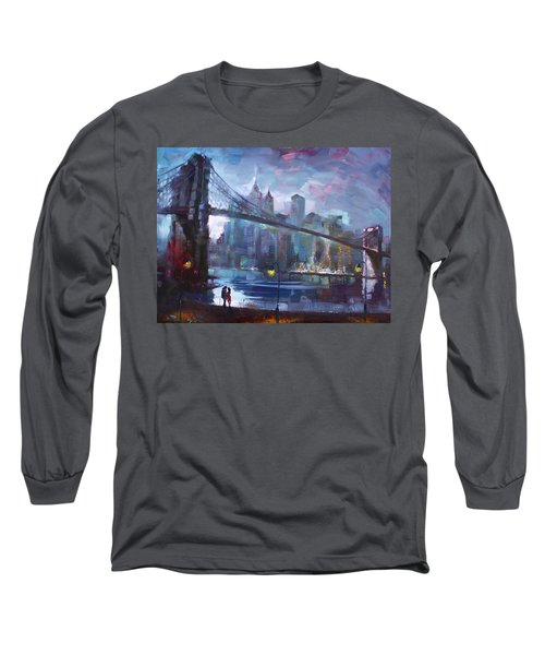 Romance By East River II Long Sleeve T-Shirt by Ylli Haruni