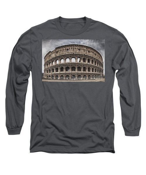 Rome Colosseum 02 Long Sleeve T-Shirt by Antony McAulay