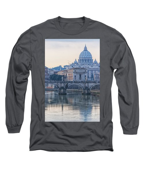 Rome Saint Peters Basilica 02 Long Sleeve T-Shirt by Antony McAulay